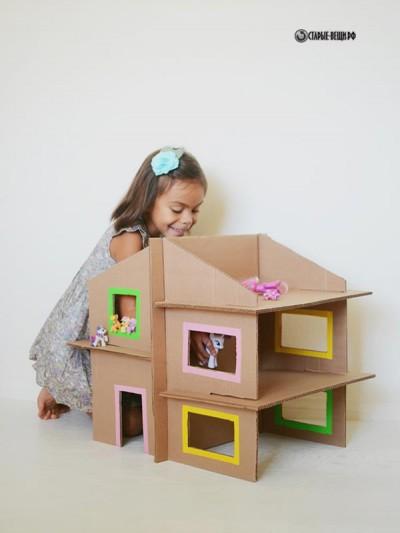 Кукольный домик из картона мастер класс