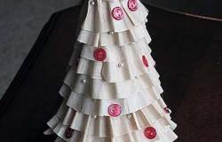 Новогодняя елка из фильтров для кофе