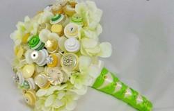Цветы из пуговиц своими руками МК