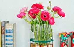Вазы для цветов из высоких стаканов