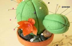 Игольница кактус из фетра МК