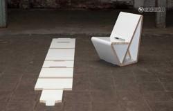 Разборный стул из картона