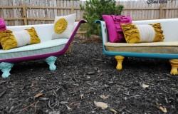 Кресло и диван из старой ванны