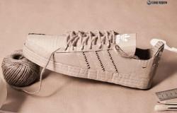 Кроссовки Adidas из картона