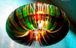 Абажур люстры из CD дисков