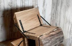 Кресло стул из чурки.