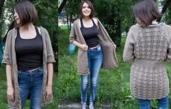 Как связать модный жакет спицами