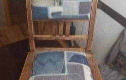 Идеи по переделке мягкой мебели из старых джинсов