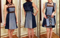 Платье из старых джинсов