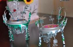 Кресло из алюминиевой банки