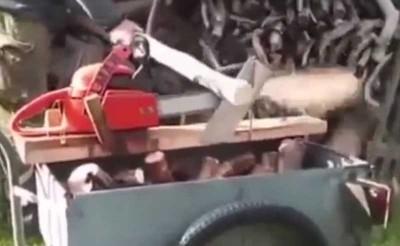 Приспособление для пилки дров бензопилой