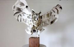 Объемные птицы из бумаги.