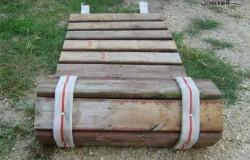 Рулонная разборная деревянная дорожка
