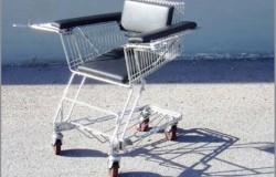 Мебель и велосипеды из корзин для покупок или вторая жизнь корзин для покупок