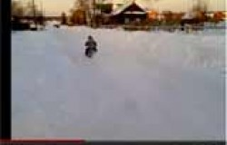 Детский снегоход из бензопилы и снегоката