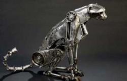 Техноарт скульптуры животных из металла.