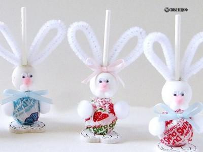 Сладкие зайчата-новогодняя поделка