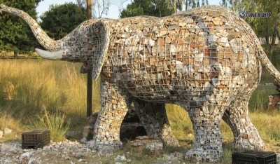 Слон из камня