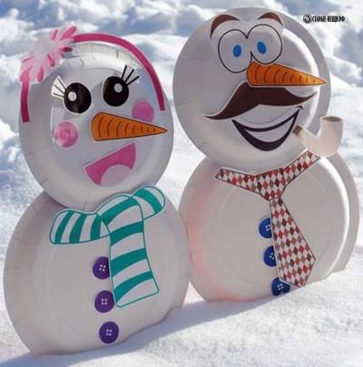Идеи снеговиков к Новому году из старых вещей