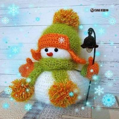 Восхитительные снеговики из пряжи своими руками