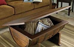 Журнальный столик из бочки