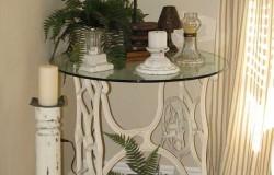 Столики из ненужных станин от старых швейных машин