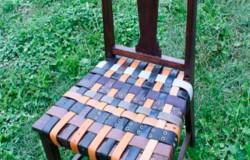 Сидушки на стулья своими руками из старых ремней