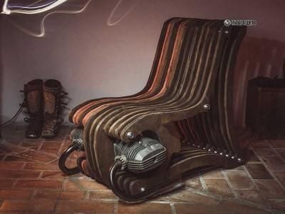 Стул из мотоцикла Лоренсо Бератти