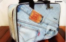 Сумка - чемодан из старых джинсов