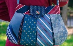 Сумки из мужских галстуков