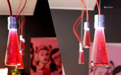 Светильники-аромо лампы из стеклянных бутылок