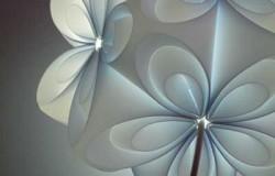 Светильник оригами из полипропиленовой пленки
