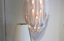 Оригинальные светильники и настольные лампы из труб ПВХ