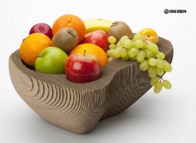 Мастер-класс по изготовлению вазы для фруктов из гофрированного картона.