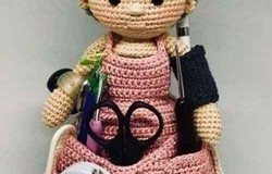 Вязаные куклы органайзеры