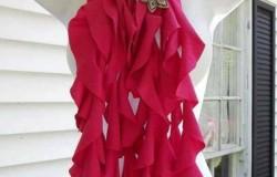Весенние модные красивые шарфы из старых вещей